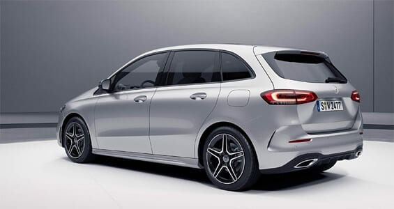 Diseño exterior del Mercedes Clase B 2021