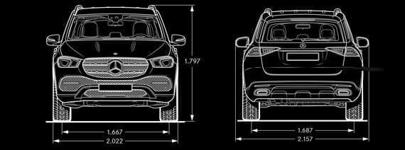 Medidas del Mercedes GLE