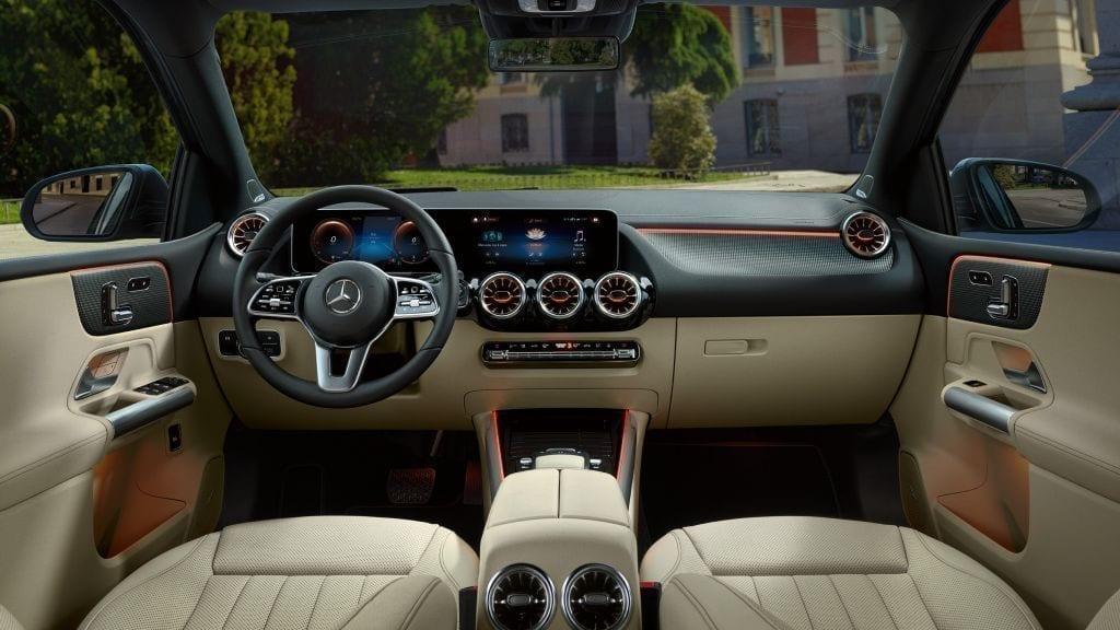 Diseño interior del nuevo Mercedes Clase B